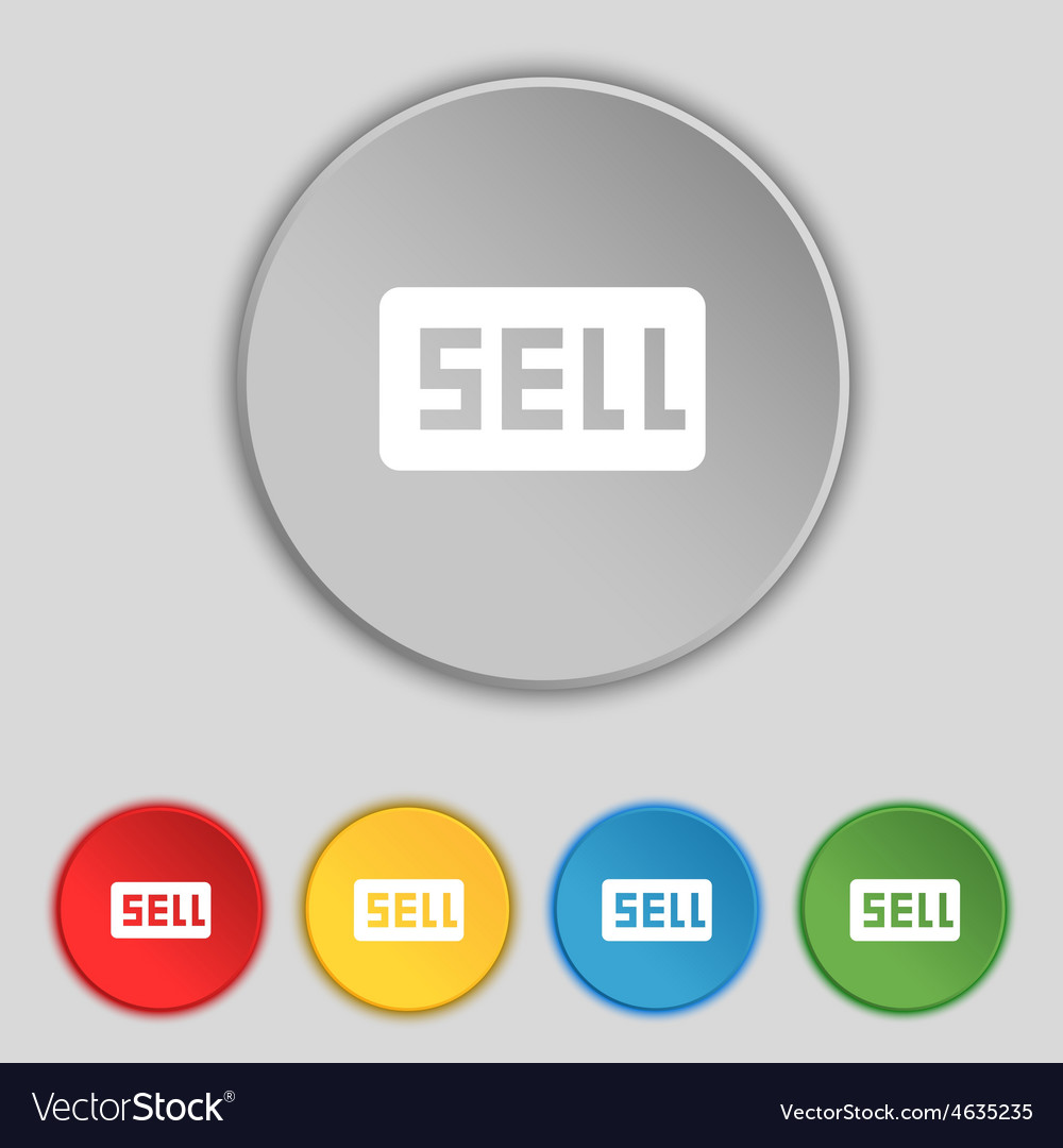 Sell contributor earnings icon sign symbol on five vector | Price: 1 Credit (USD $1)