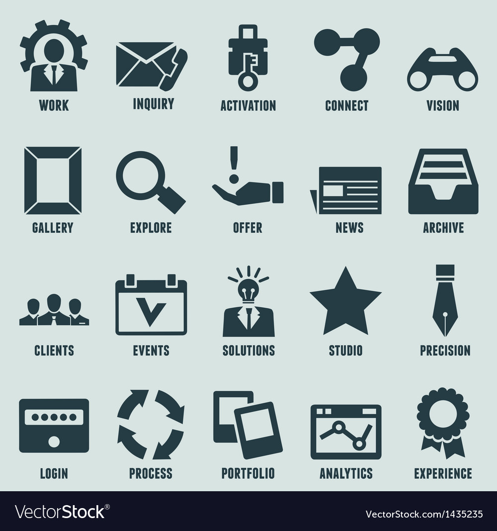 Set of marketing internet and service icons vector | Price: 3 Credit (USD $3)