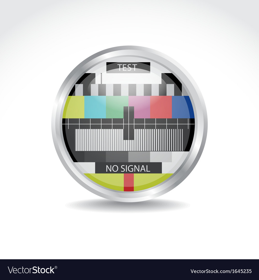 Tv color button vector | Price: 1 Credit (USD $1)
