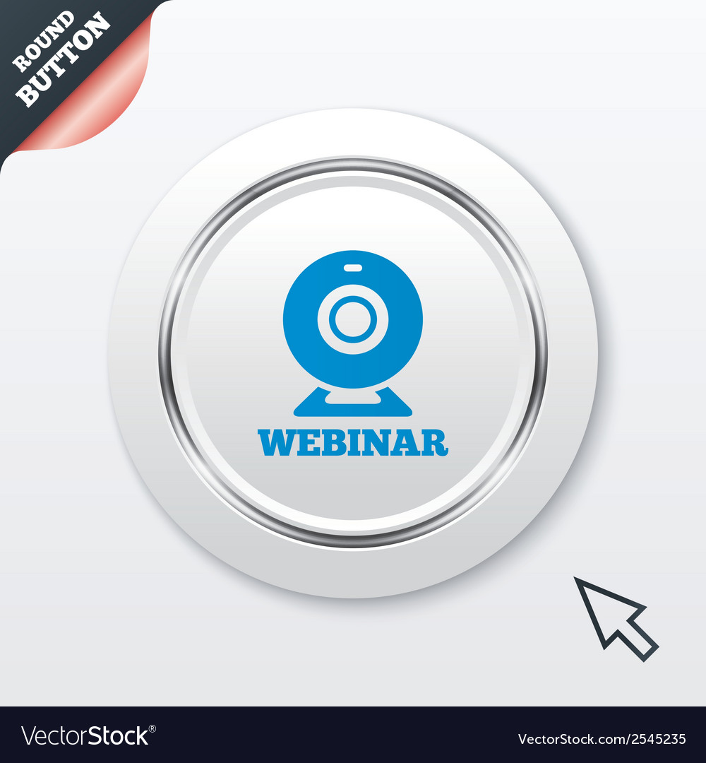 Webinar web camera sign icon online web study vector | Price: 1 Credit (USD $1)