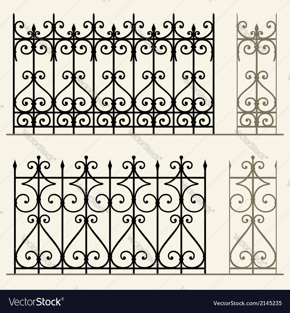 Wrought iron modular railings and fences vector | Price: 1 Credit (USD $1)