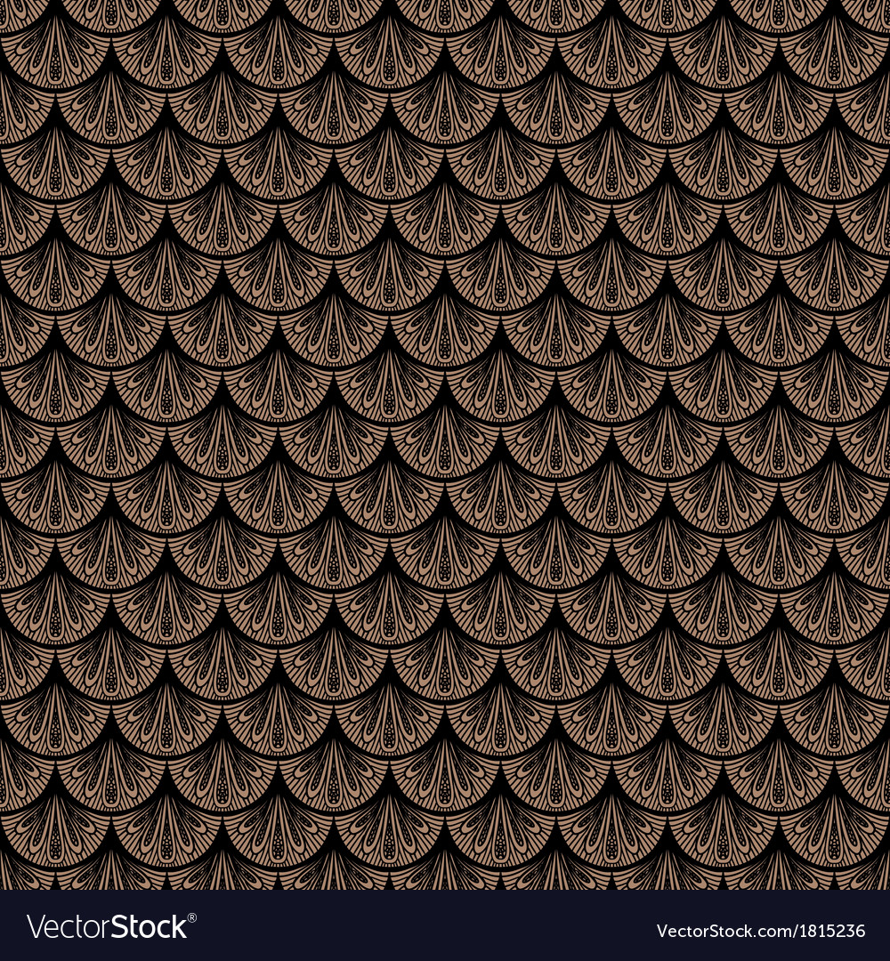 Art deco geometric pattern in brown color vector | Price: 1 Credit (USD $1)