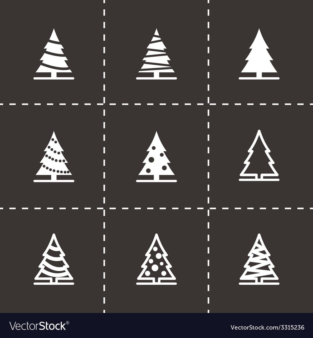 Black christmas tree icon set vector | Price: 1 Credit (USD $1)