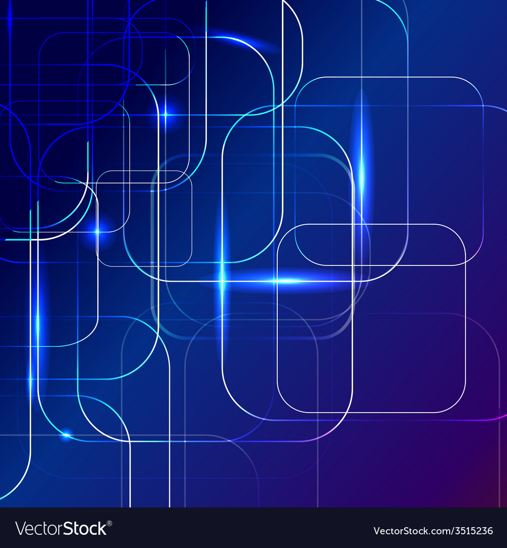 Blue abstract background of digital technologies vector | Price: 1 Credit (USD $1)