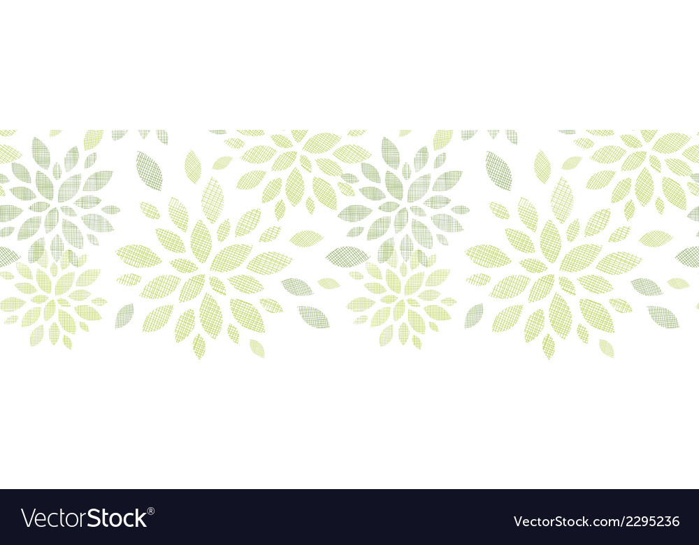 Fabric textured abstract leaves horizontal vector | Price: 1 Credit (USD $1)