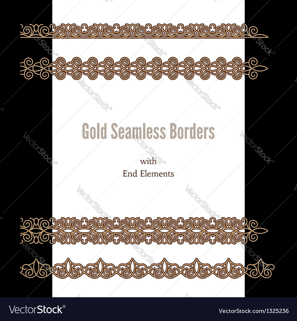 Gold borders vector | Price: 1 Credit (USD $1)