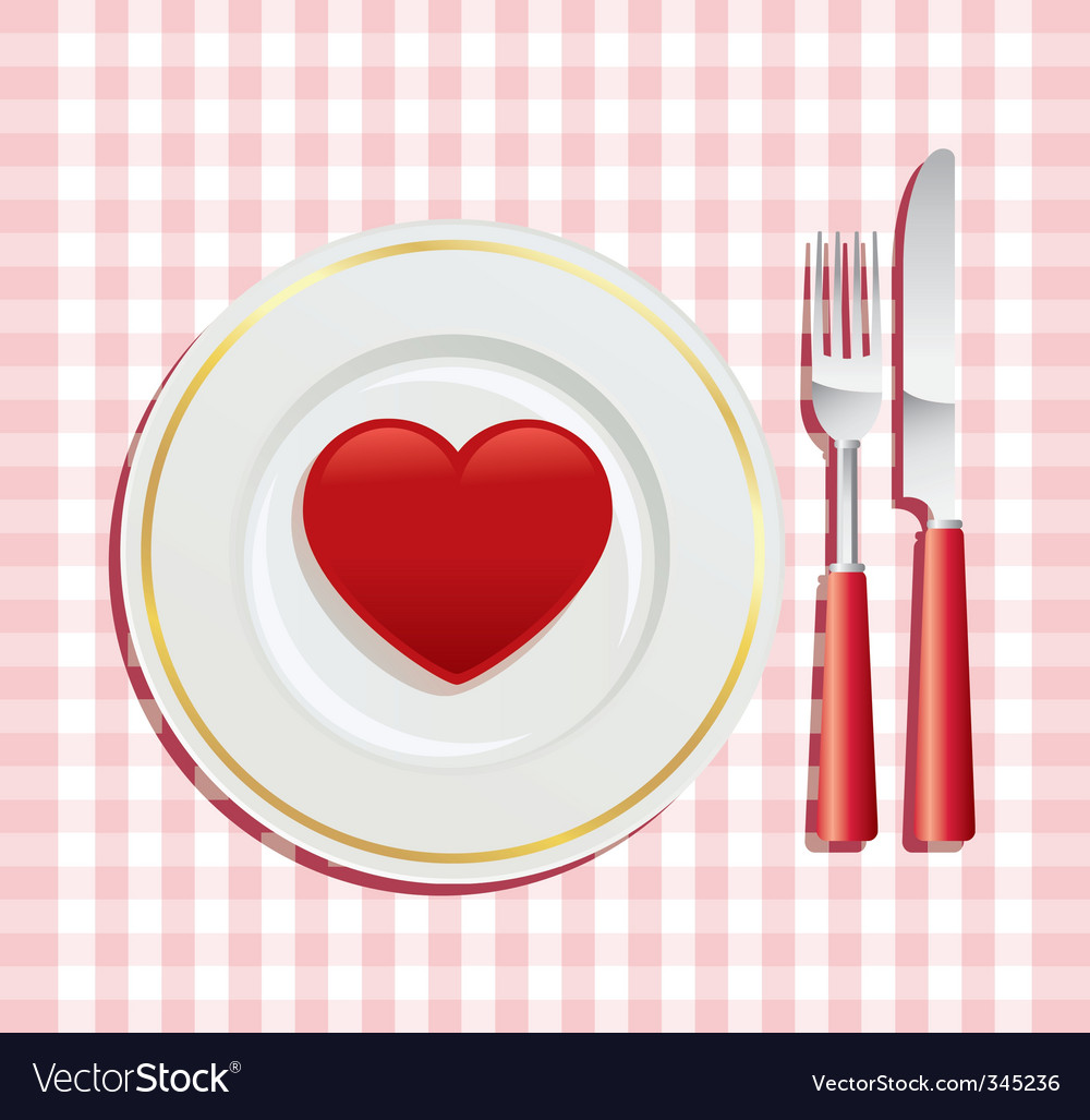 Valentine's day breakfast vector | Price: 1 Credit (USD $1)