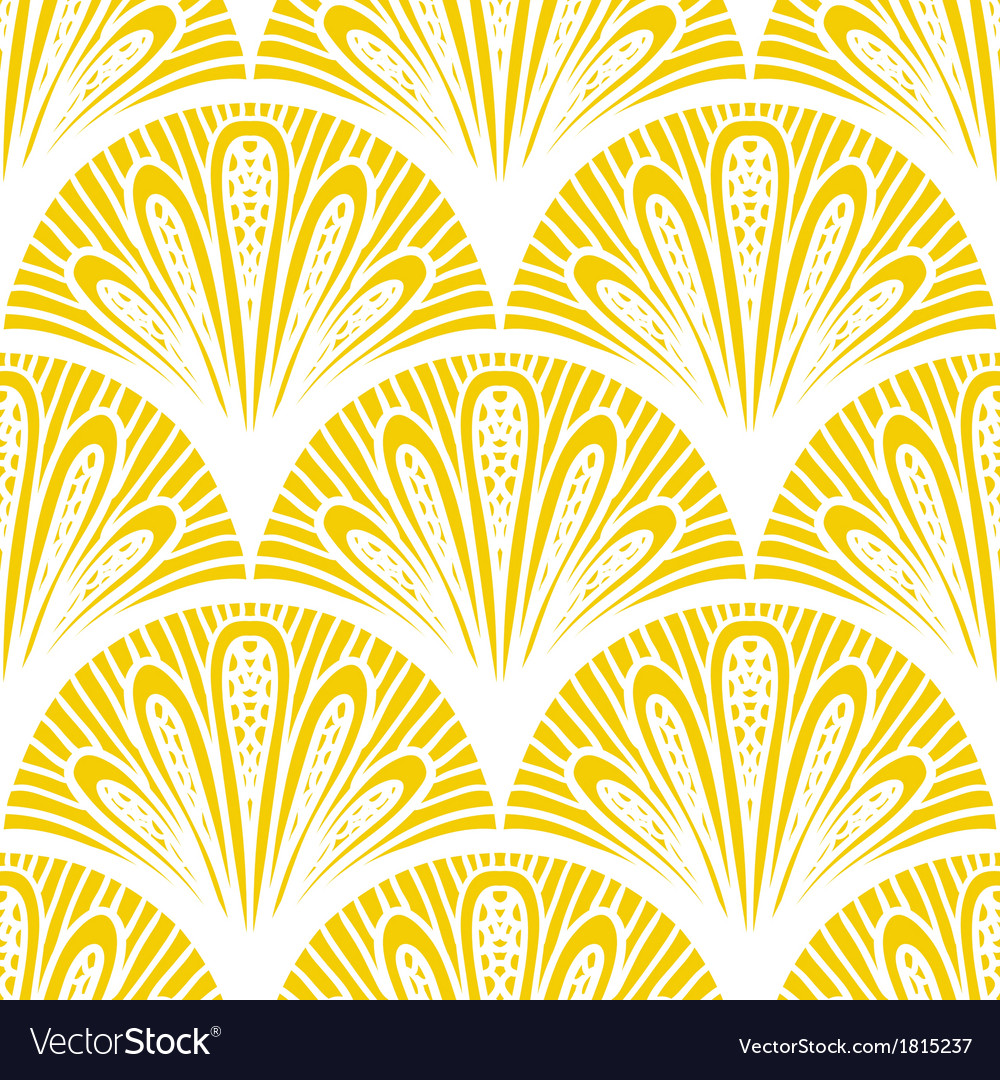 Art deco geometric pattern in bright yellow vector | Price: 1 Credit (USD $1)