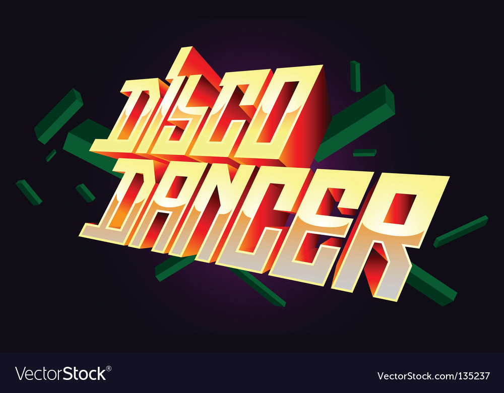 Disco dancer t-shirt design vector | Price: 1 Credit (USD $1)