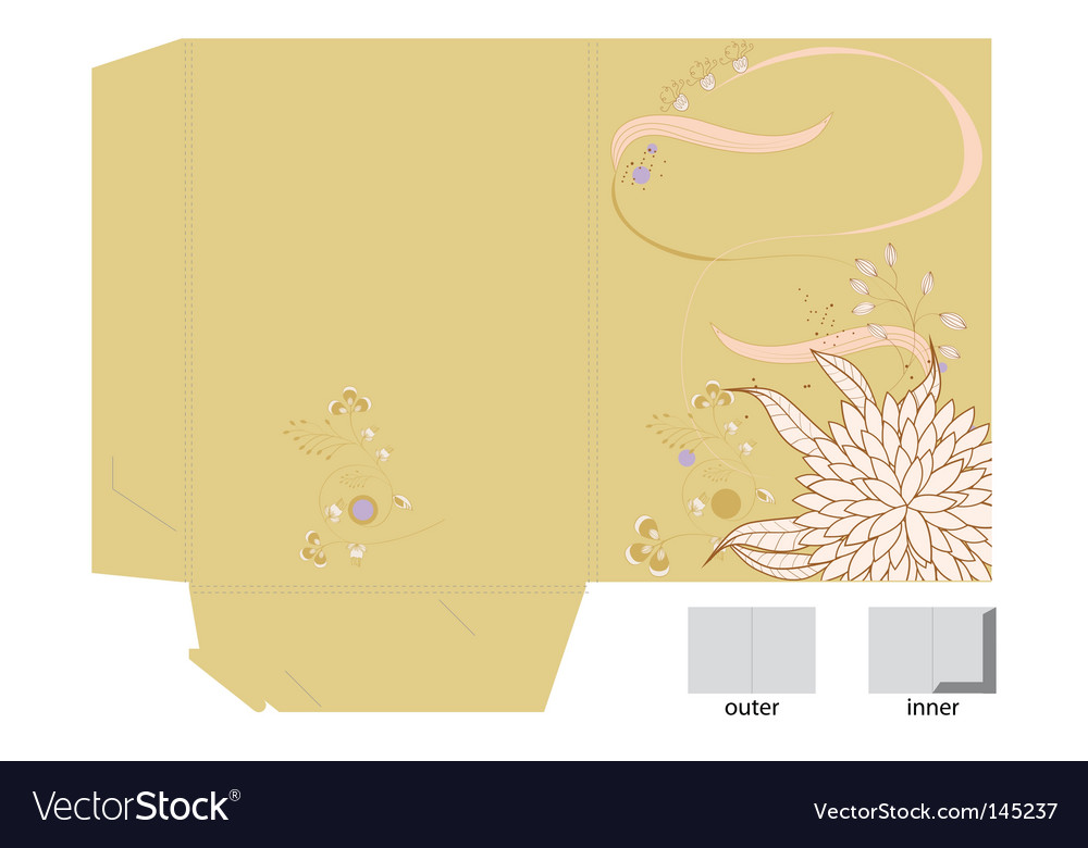 Floral gift bag vector | Price: 1 Credit (USD $1)