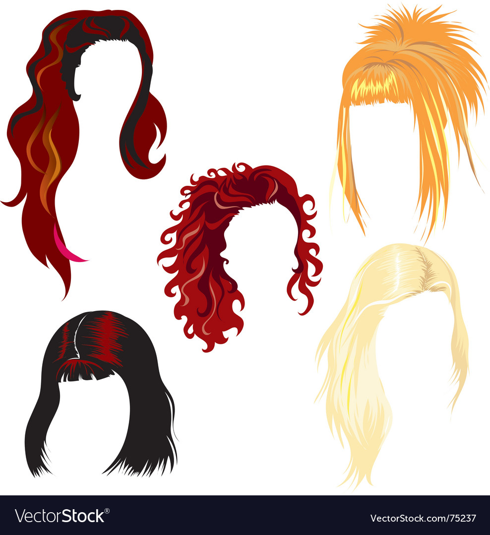 Hair styles vector | Price: 1 Credit (USD $1)