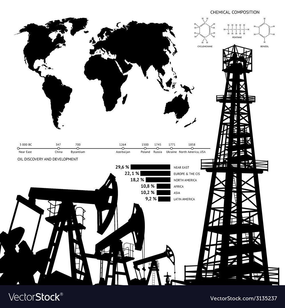 Oil infographics vector | Price: 1 Credit (USD $1)