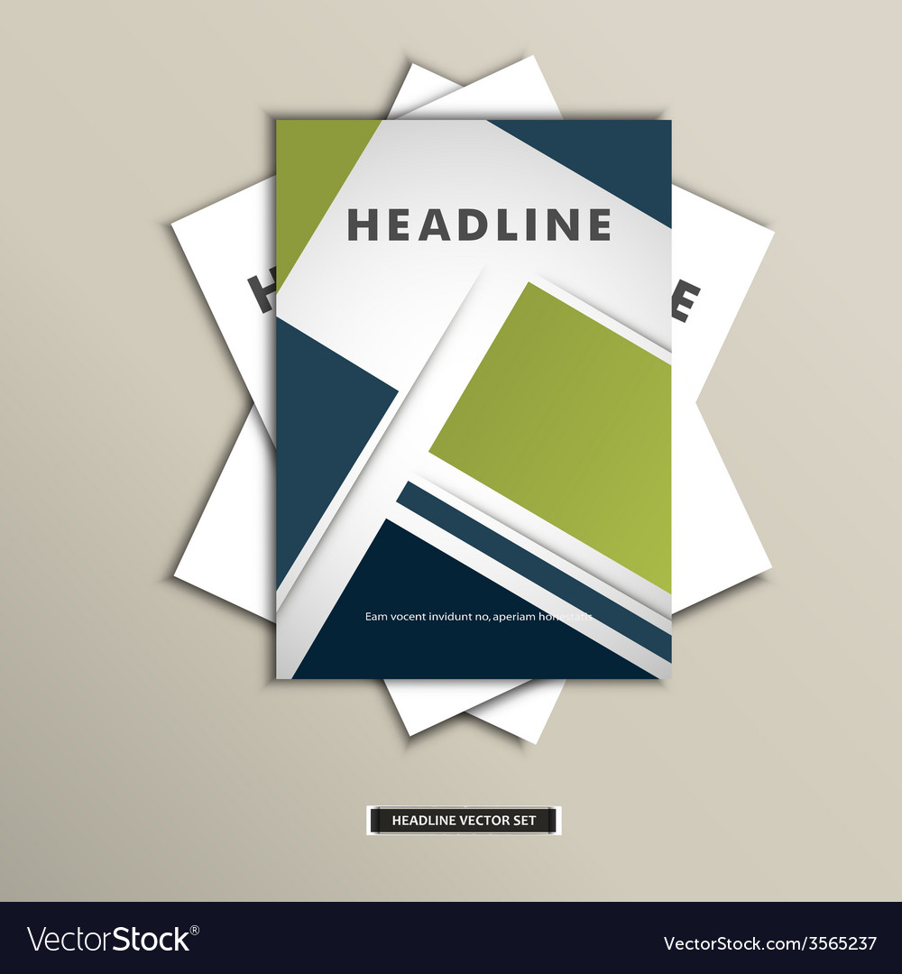 Set brochures with background of squares vector   Price: 1 Credit (USD $1)