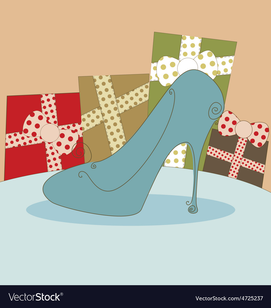 Shoe fashion background vector | Price: 1 Credit (USD $1)