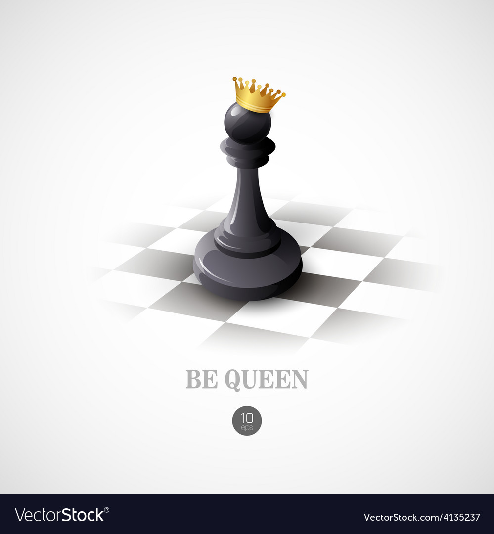 Winning chess concept background vector | Price: 1 Credit (USD $1)