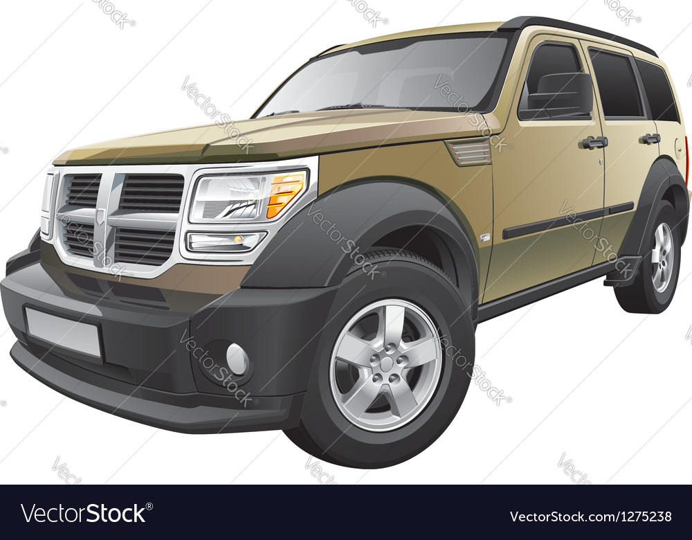 American compact suv vector | Price: 5 Credit (USD $5)