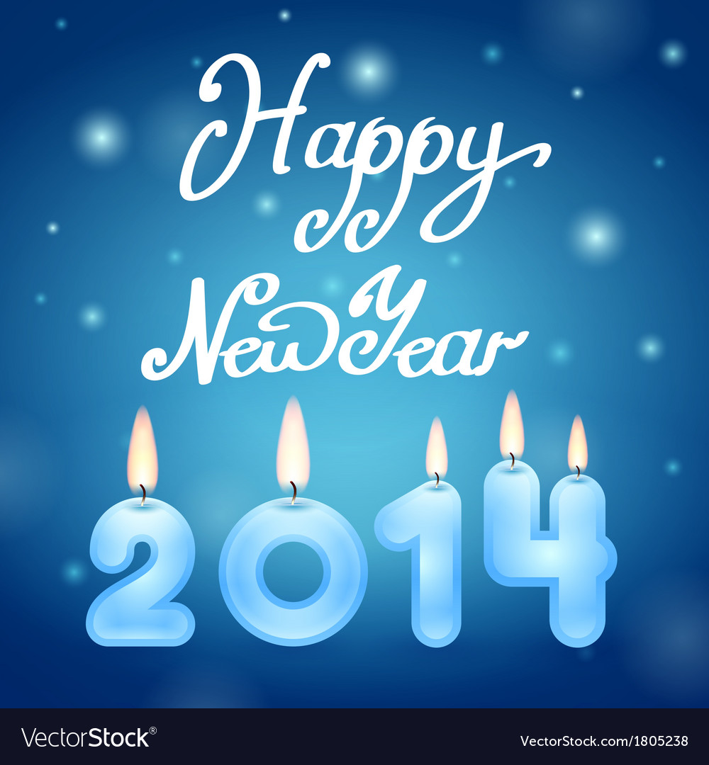 Candles 2014 happy new year vector | Price: 1 Credit (USD $1)