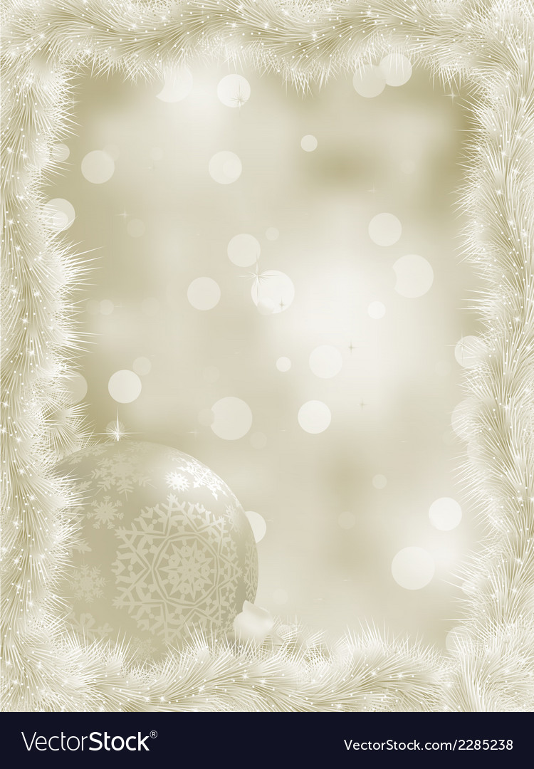 Elegant christmas card with copy sace eps 8 vector | Price: 1 Credit (USD $1)