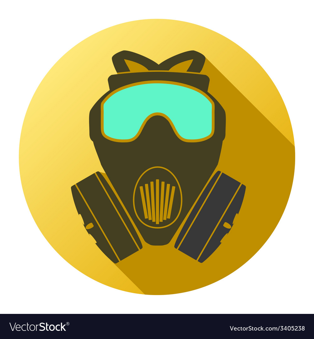 Flat icon of gas mask respirator vector | Price: 1 Credit (USD $1)