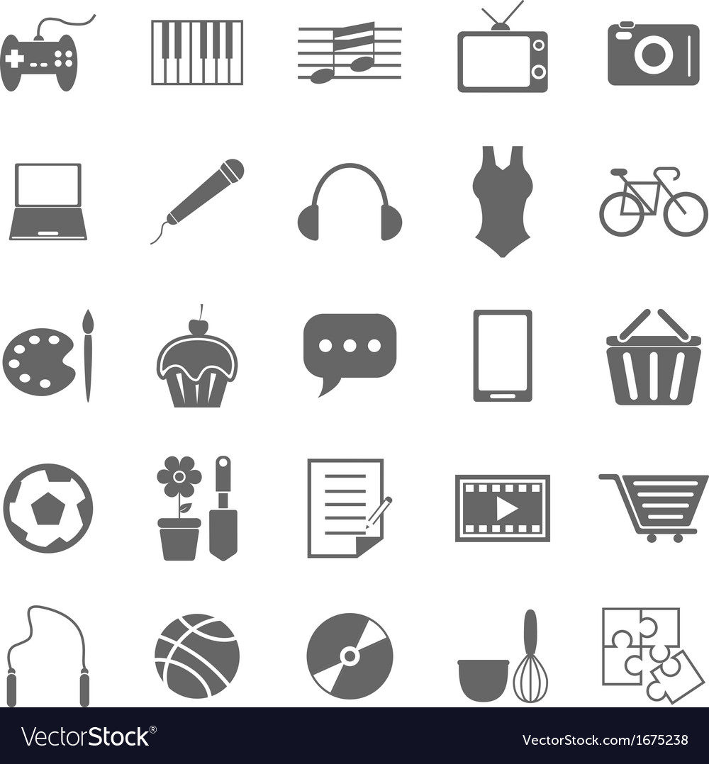 Hobby icons on white background vector | Price: 1 Credit (USD $1)