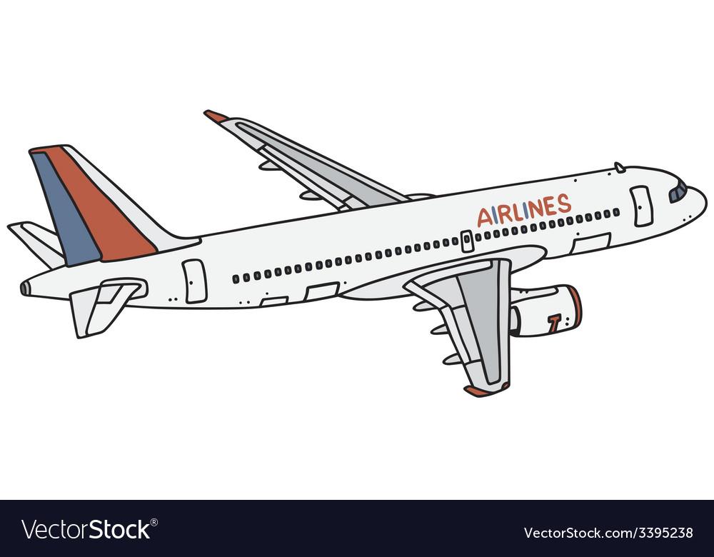 Jet airliner vector   Price: 1 Credit (USD $1)
