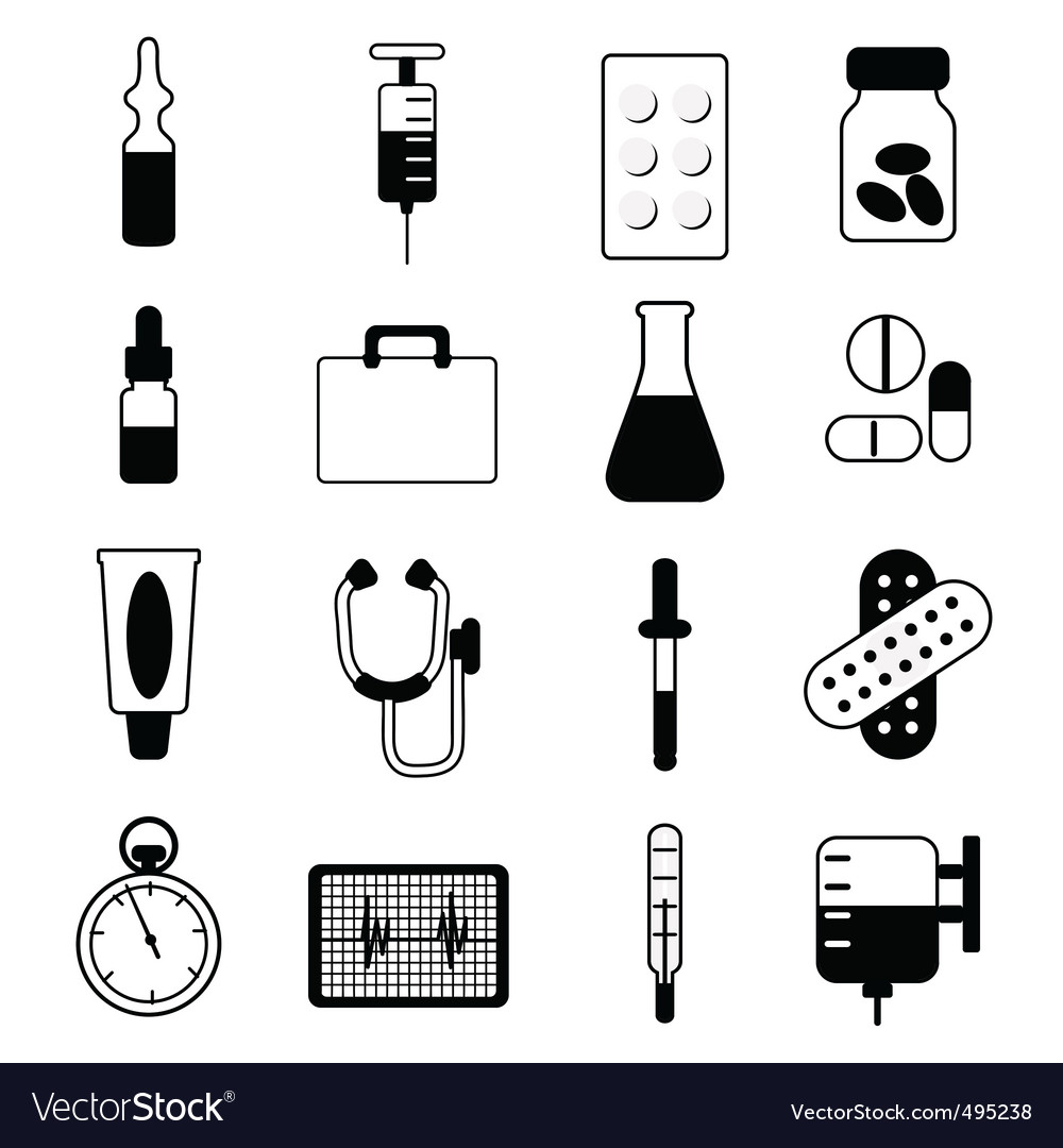 Medical icon set vector | Price: 1 Credit (USD $1)