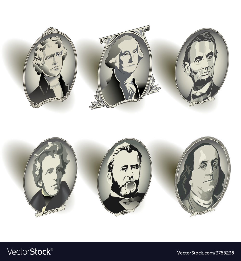 Money oval presidents vector | Price: 1 Credit (USD $1)