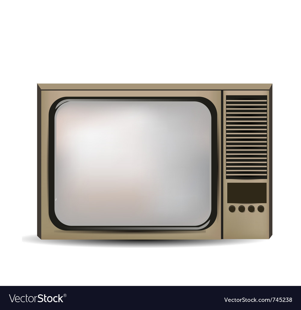 Old retro tv vector | Price: 3 Credit (USD $3)