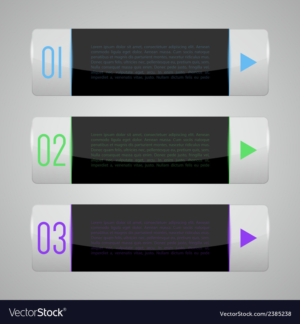 Set of shiny banners vector | Price: 1 Credit (USD $1)
