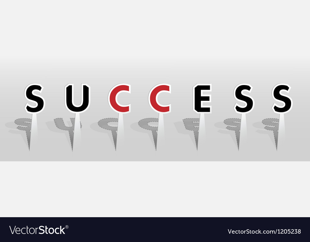 Success word vector | Price: 1 Credit (USD $1)