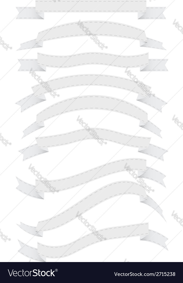 White ribbons vector | Price: 1 Credit (USD $1)