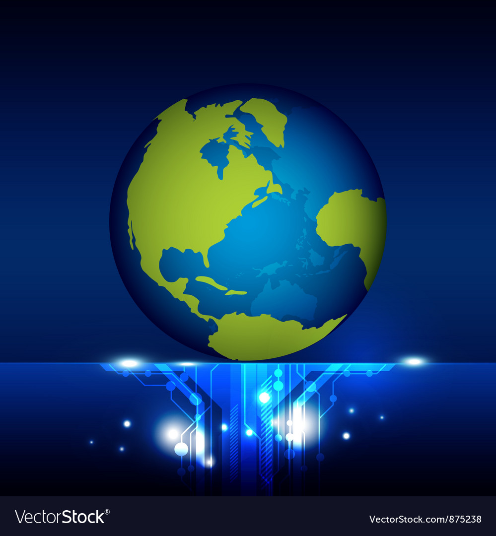 World technology vector | Price: 1 Credit (USD $1)