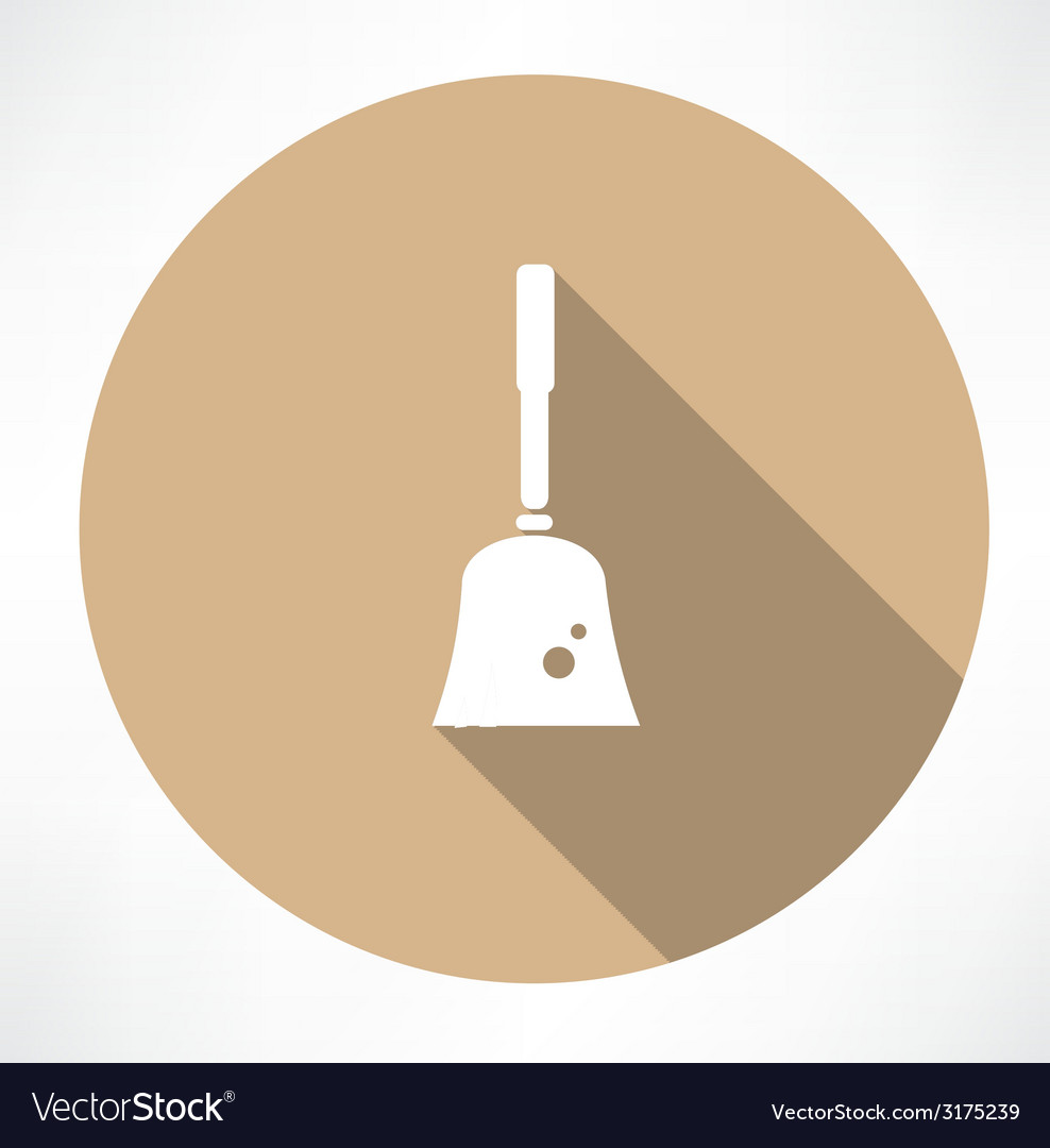 Broom icon vector | Price: 1 Credit (USD $1)