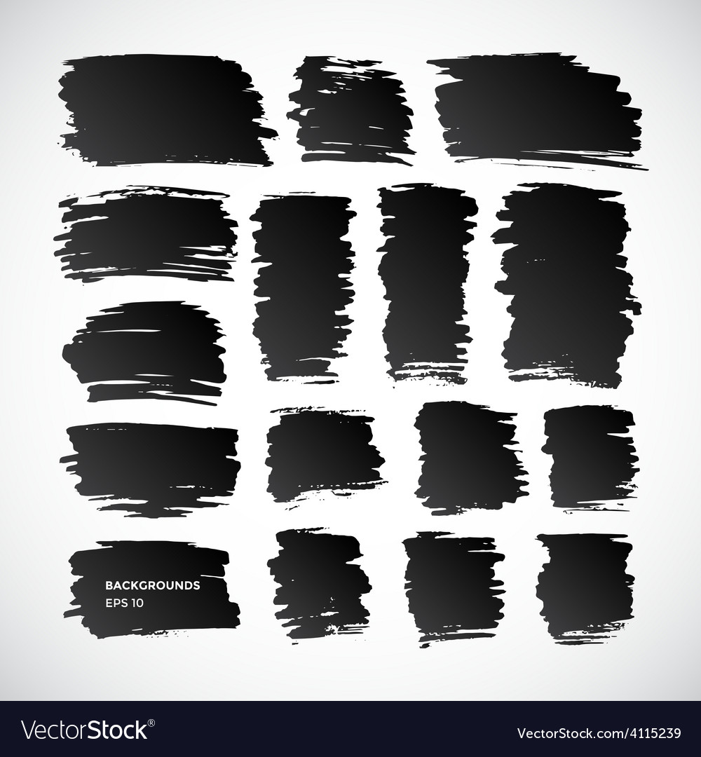 Brushstroke banners ink spot backgrounds vector | Price: 1 Credit (USD $1)