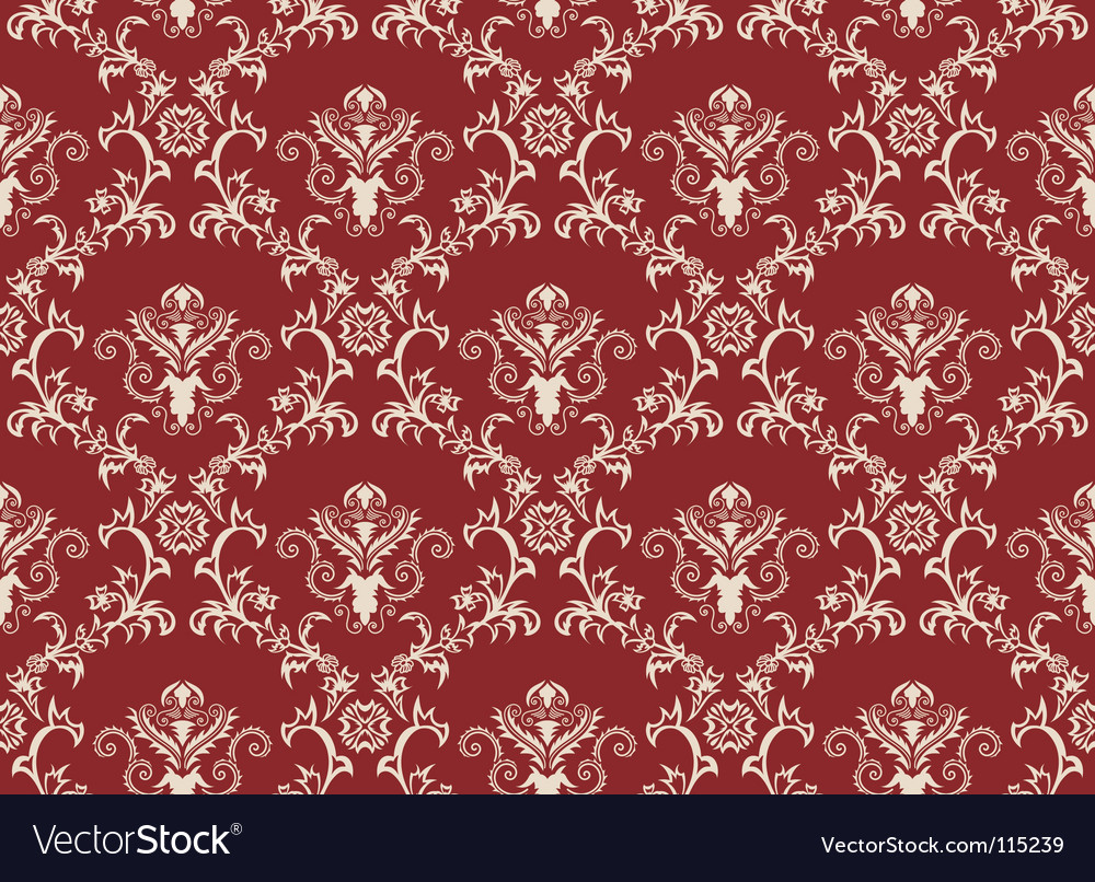 Damask wallpaper pattern vector | Price: 1 Credit (USD $1)