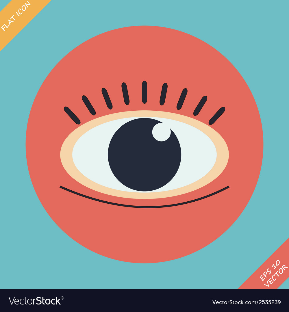 Eye icon - vector | Price: 1 Credit (USD $1)