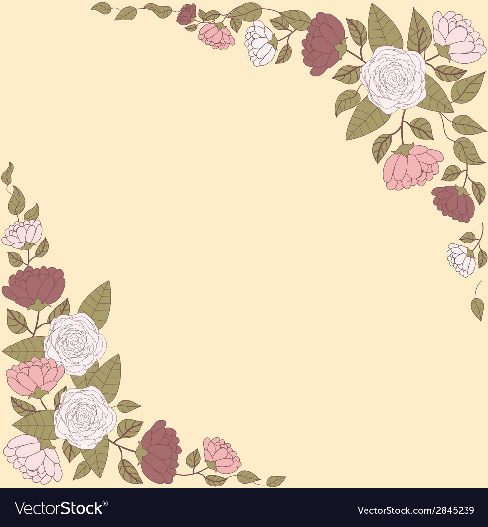 Floral card with abstract flowers vector | Price: 1 Credit (USD $1)