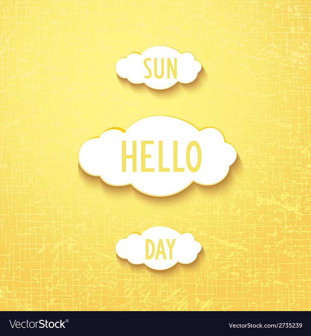 Hello sunday vector | Price: 1 Credit (USD $1)