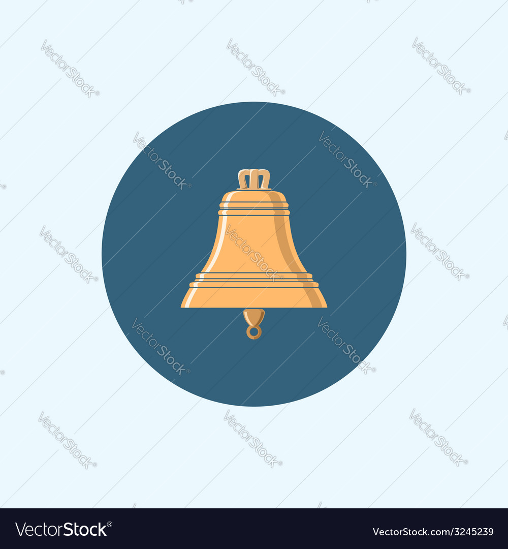 Icon with colored bell vector | Price: 1 Credit (USD $1)