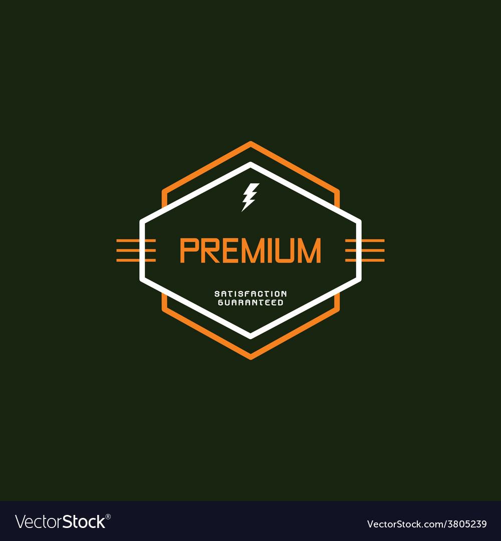 Modern insignia vintage label vector | Price: 1 Credit (USD $1)