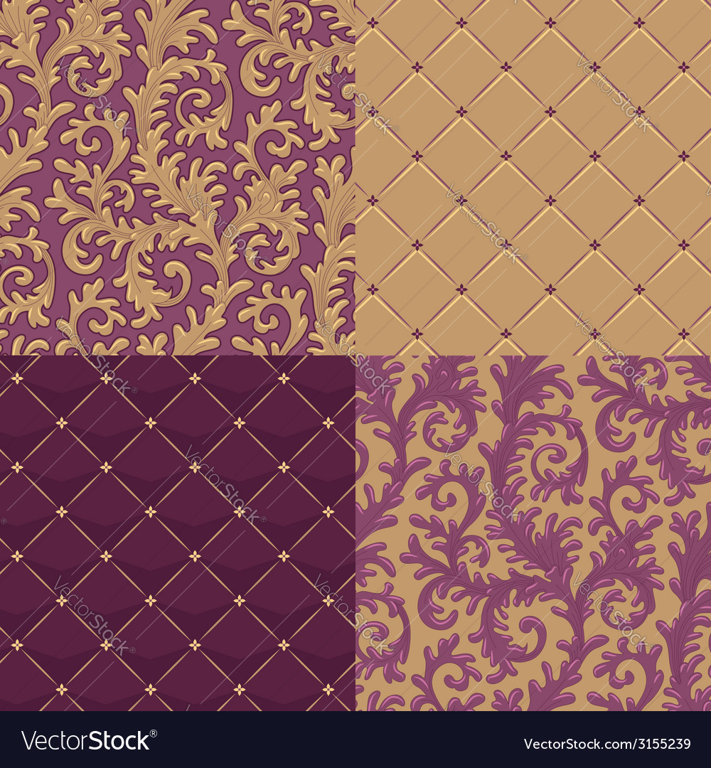 Pattern baroque set vector | Price: 1 Credit (USD $1)