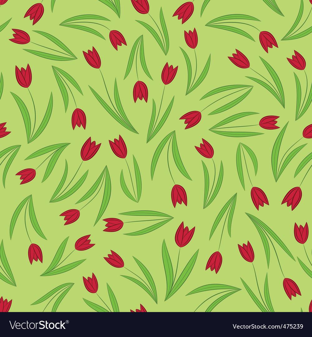 Seamless tulip vector | Price: 1 Credit (USD $1)
