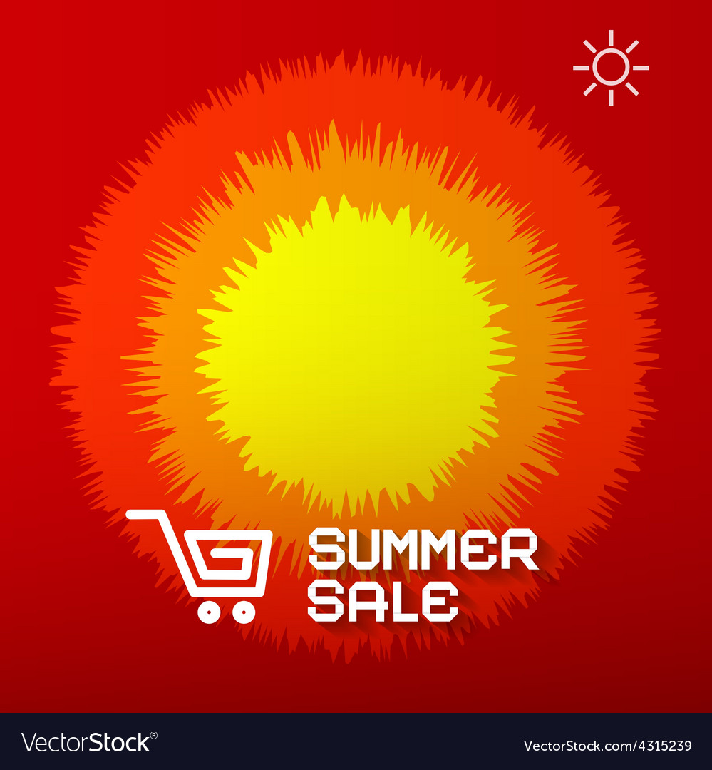 Summer sale paper title on abstract red - orange vector | Price: 1 Credit (USD $1)