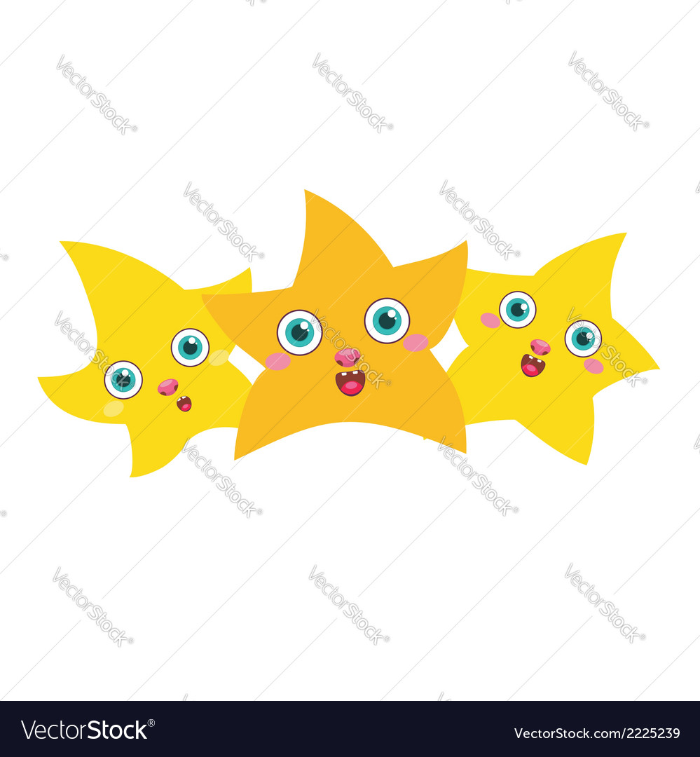 Three golden stars vector | Price: 1 Credit (USD $1)