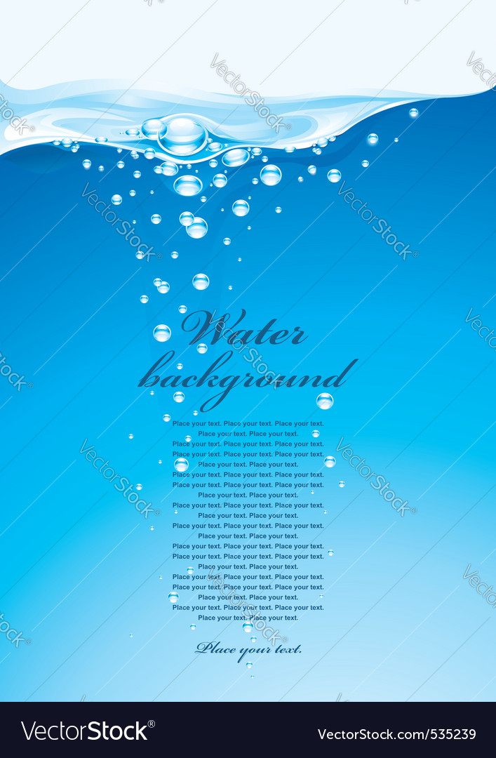 Water background vector | Price: 3 Credit (USD $3)