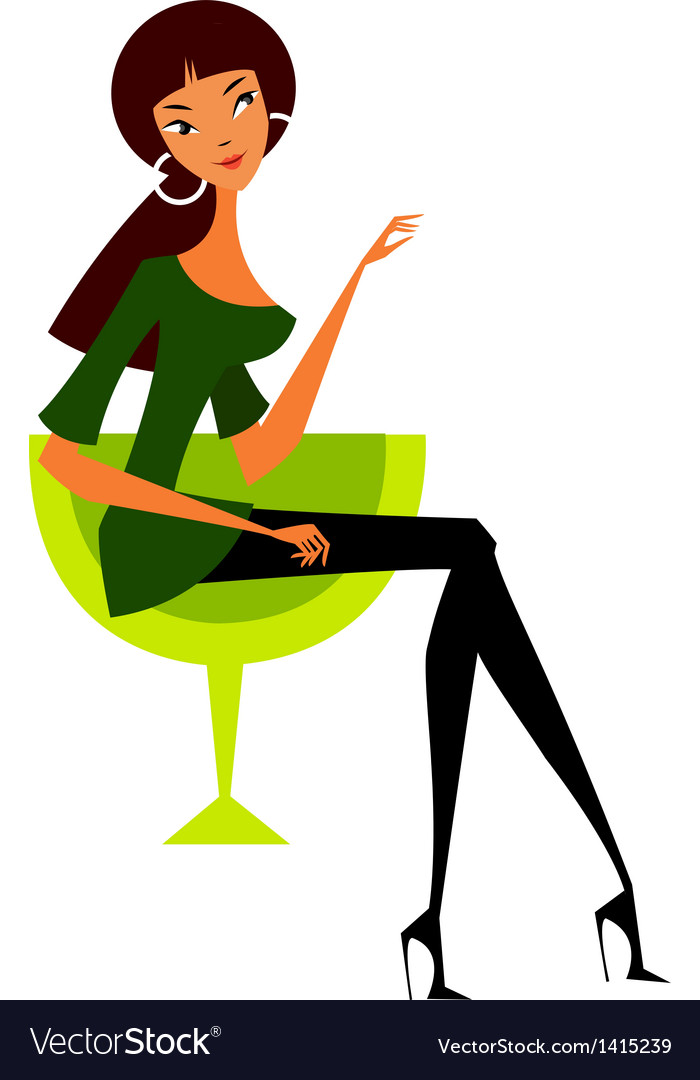 Woman sitting vector | Price: 1 Credit (USD $1)