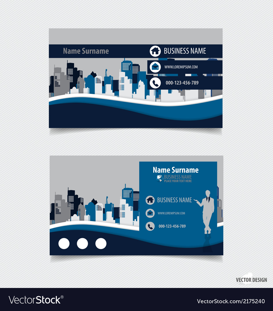 Abstract creative business card template vector | Price: 1 Credit (USD $1)