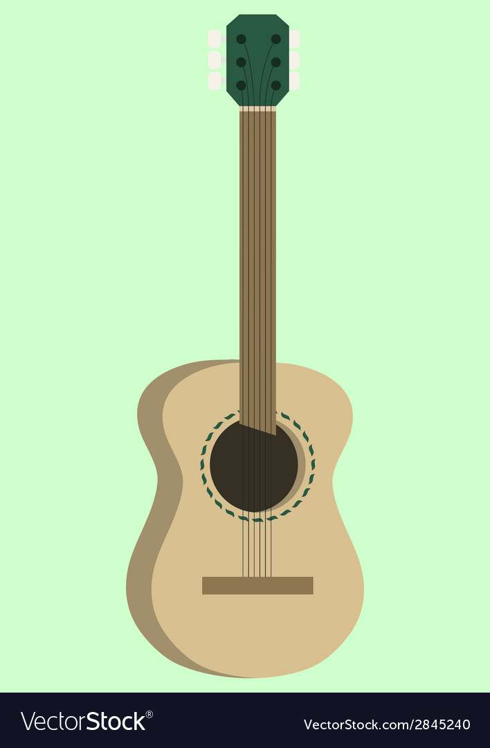 Acoustic guitar design vector | Price: 1 Credit (USD $1)