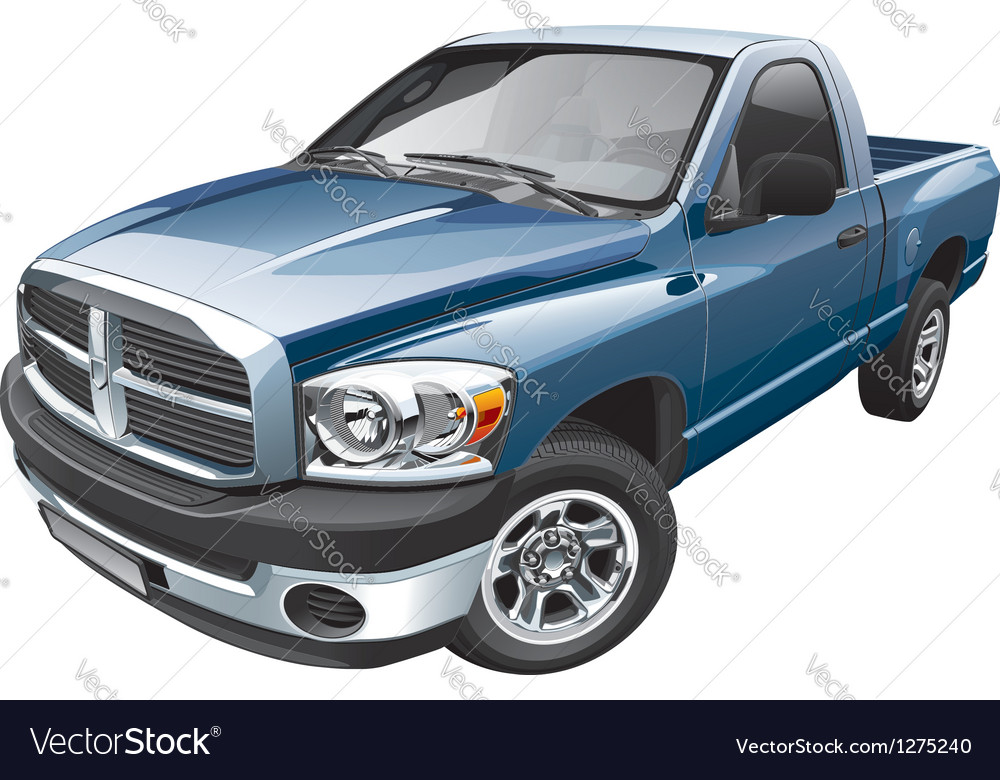American full size pickup vector | Price: 5 Credit (USD $5)