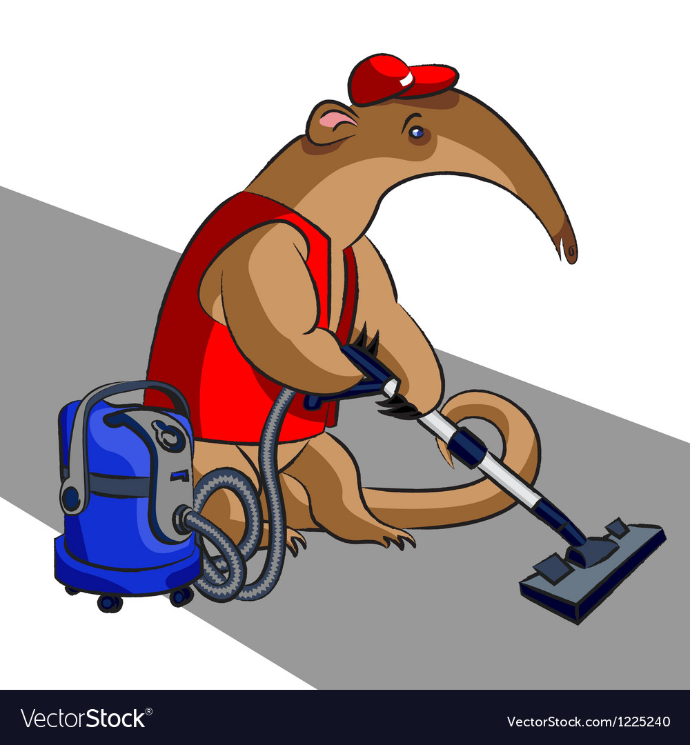 Anteater and vacuum cleaner vector | Price: 5 Credit (USD $5)